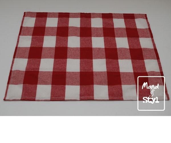 Stoffen servet (43x33cm ByAnny rood)