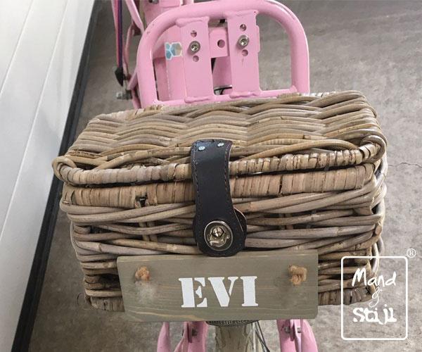 Kleine fietsmand met deksel (27x18x13cm)
