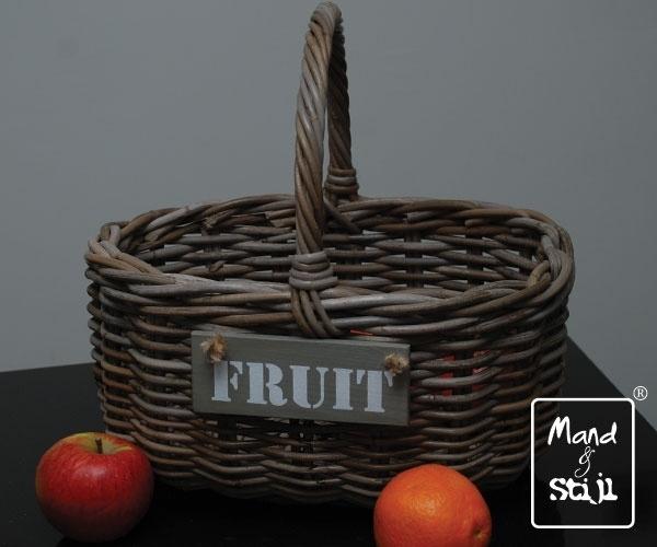Fruitmand met hengsel (38x30x19cm)