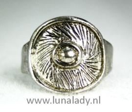 Tibetaans zilveren ring