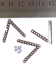 15 donker zilver
