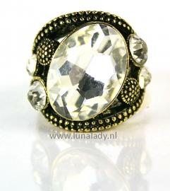 Ring met rhinestones  183