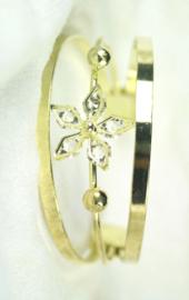 050 Klem armband met rhinestones.
