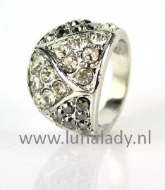 Ring met rhinestones  951