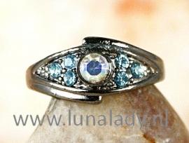 Ring met rhinestones 326