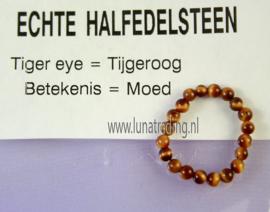 Edelstenen ring,  Tijgeroog