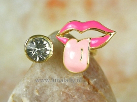 Ring met emaille.