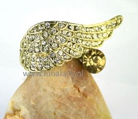 Ring met rhinestones  063