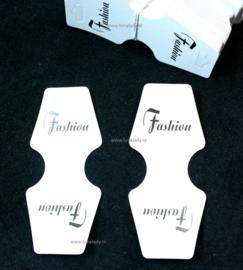 Vouwkaartjes voor kettingen en armbanden. 50 stuks