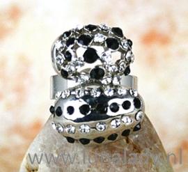 Ring met rhinestones 530