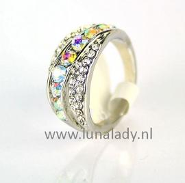 Ring met rhinestones  067