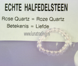 Edelstenen ring,  Roze Quarts