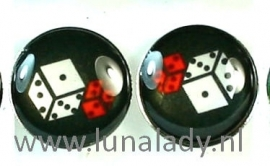 oorstekers RVS met gekleurde schildje. 10mm.