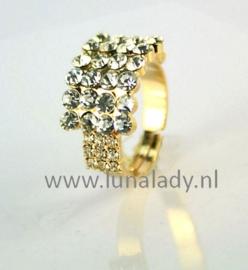 Ring met rhinestones 799