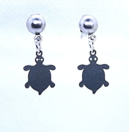 216 RVS oorsteker schildpad