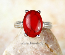Ring rode howlite