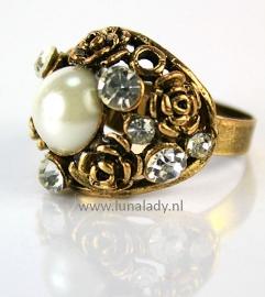 Ring met rhinestones  145