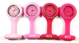 Verpleegster klokje met meegekleurde wijzeplaat. 402