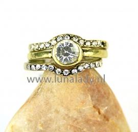 Ring met rhinestones  047