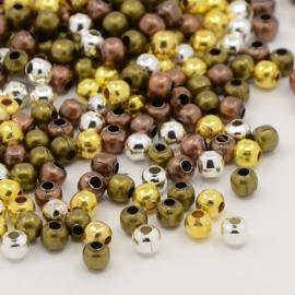 Spacer Beads mixkleur. ± 75 stuks.