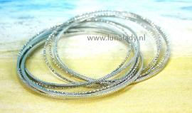 Multi armband zilverkleur 106   bangle