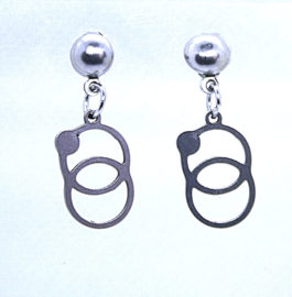218 RVS oorsteker ringen