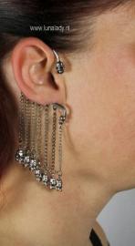 Overhang oorhanger skul antik silver 21509