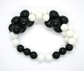 333 armband zwart-wit