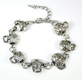 055 Armband skuls