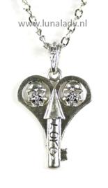Ketting zilverkleur 70061 skul sleutel