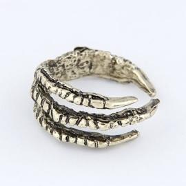 ring klauw antik silver