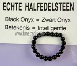 Edelstenen ring,  Zwarte Onyx