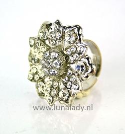 Ring met rhinestones  030