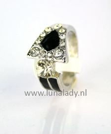 Ring met rhinestones  023