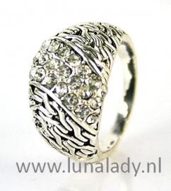 Ring met rhinestones  963