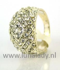 Ring met rhinestones  968