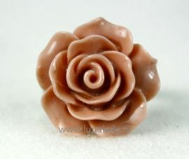 Ring roosje 20 mm. oud roze