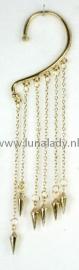 Overhang oorhanger  kegeltjes goud 21505