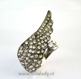Ring met rhinestones  061