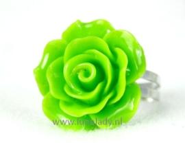 Ring roosje 20 mm. fel groen