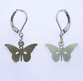 175 RVS oorbel vlinder