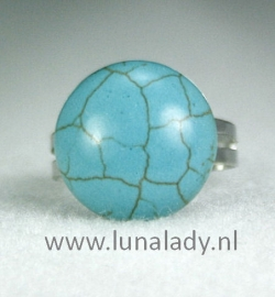 Ring turkoois rond