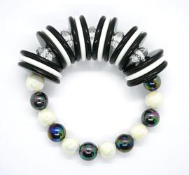 550 Armband zwart-wit