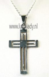 2003 RVS ketting met hanger M/V Kruis