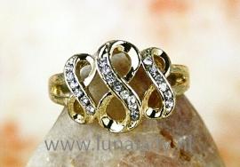 Ring met rhinestones  infinity 479