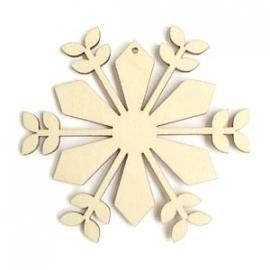 Decoratieve houten hanger - Bloem