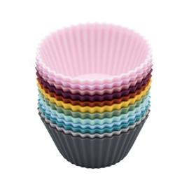 12 herbruikbare cupcake vormen van siliconen - We Might be Tiny