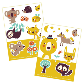 2 stickervellen a6 Hide and Seek - Bora illustraties