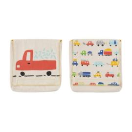 Herbruikbaar boterhamzakje Fluf - set van 2 Cars
