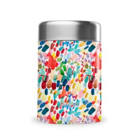 Lekdichte thermos foodjar RVS Arty 650ml Qwetch